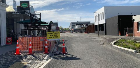 Ashburton CBD: Night works continue as upgrades progress