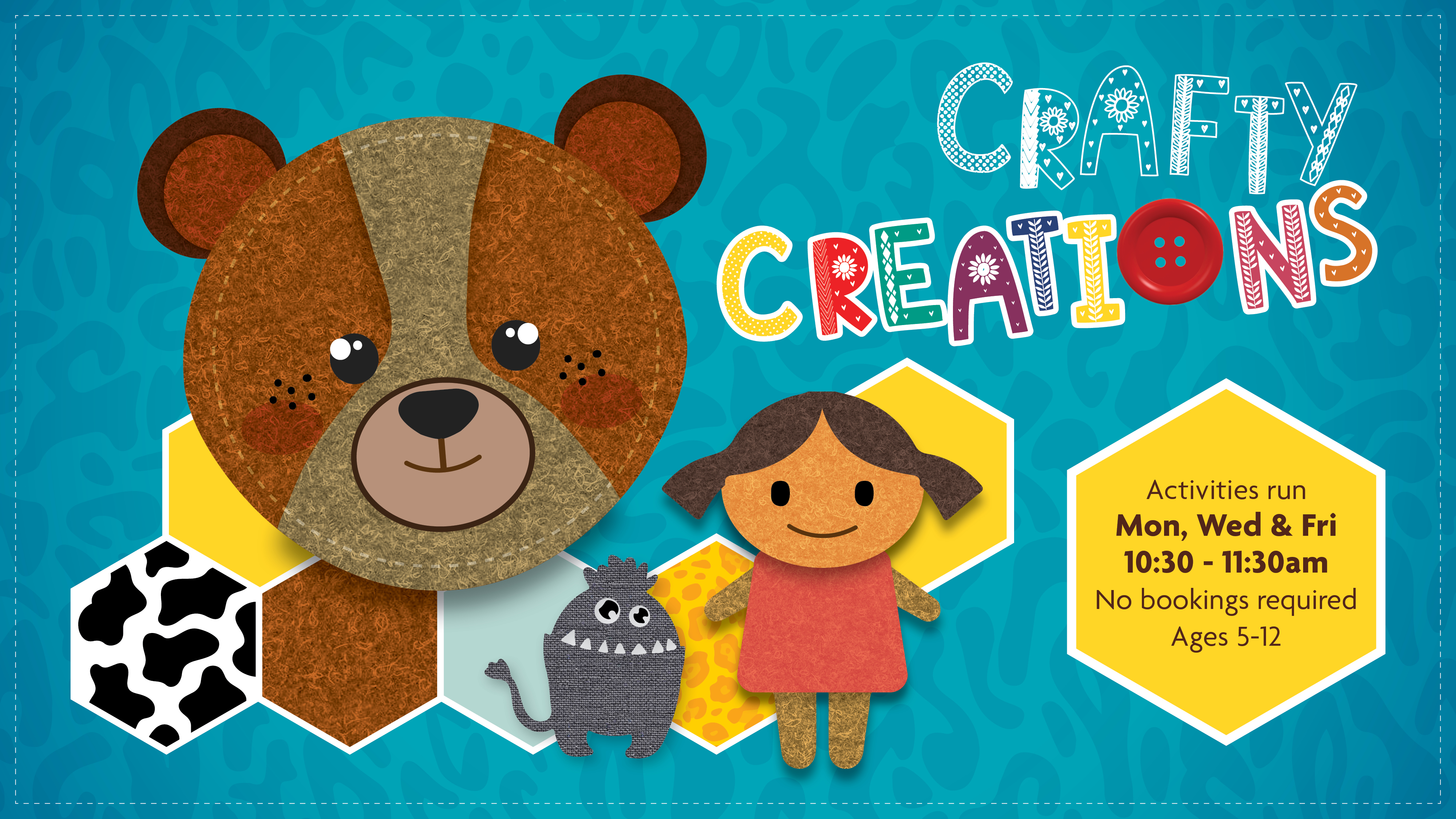 Crafty Creations felt animals and doll