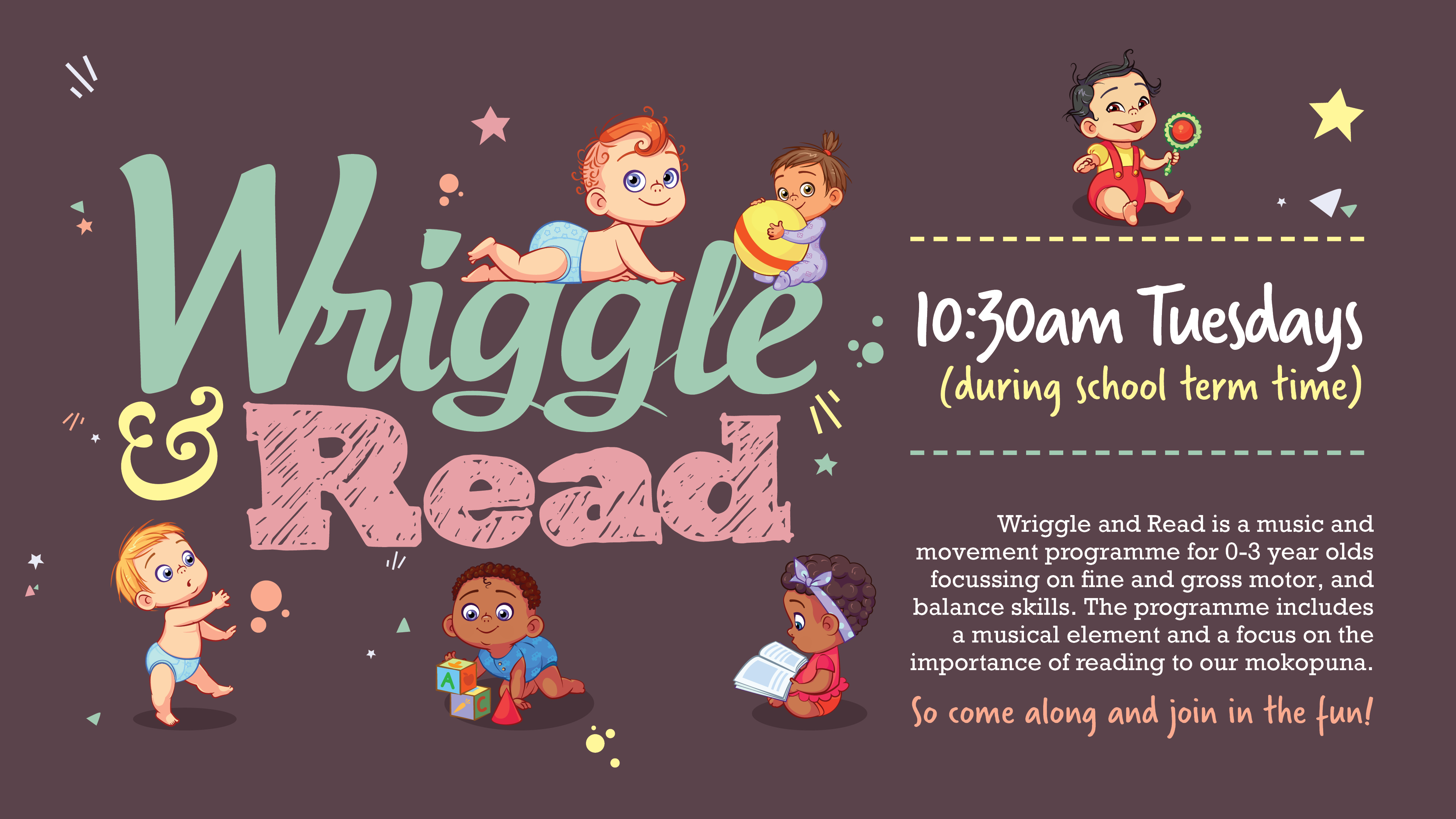 Wriggle and Read movement to music programme.