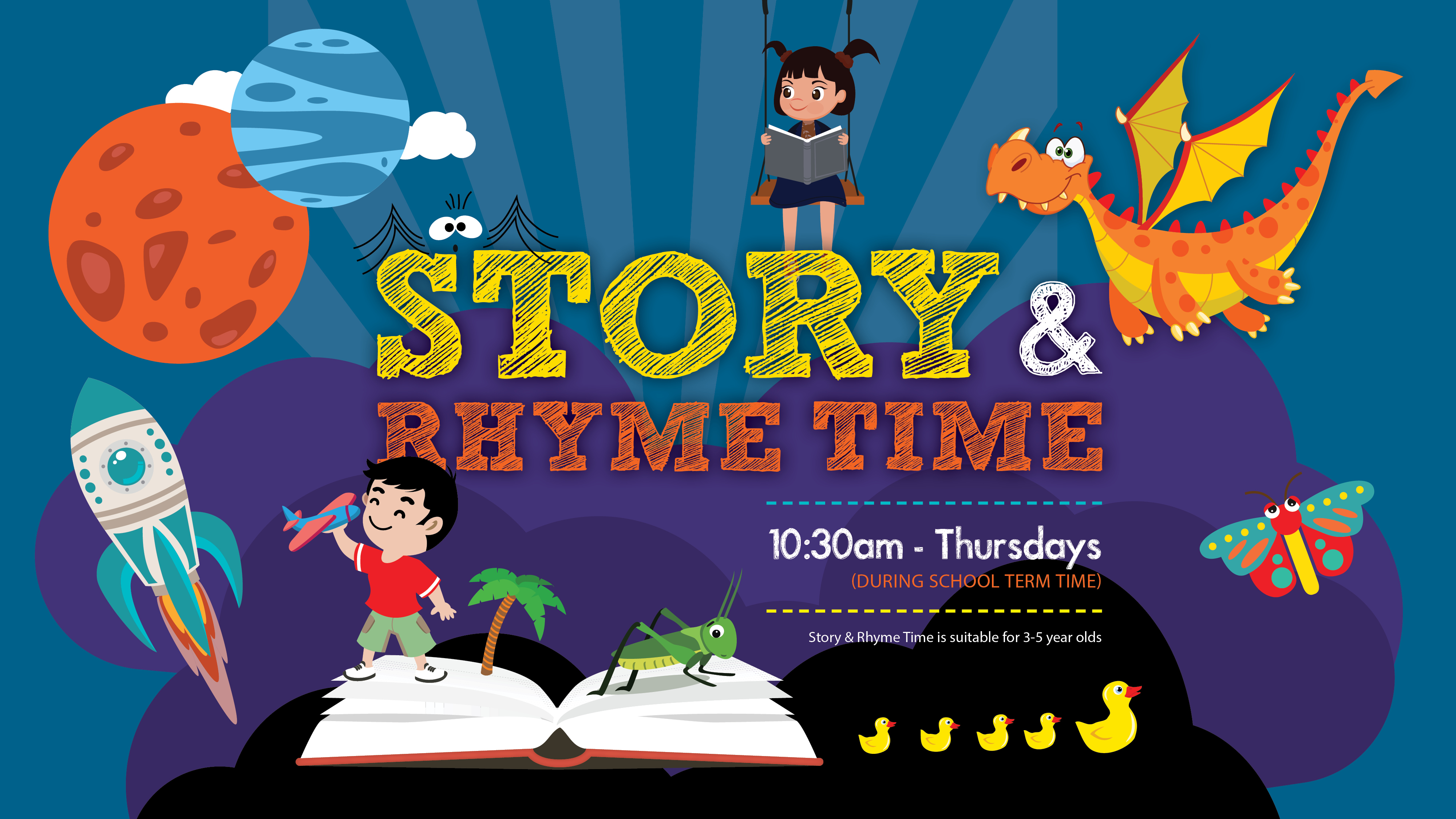Story and Rhyme Time 10:30am Thursdays