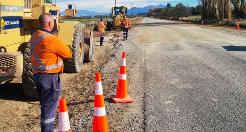 Road repairs fix 'melted' section of Maronan Road