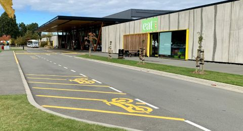 New designated parks for motorbikes at EA Networks Centre